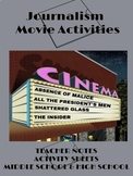 Journalism Movie Activities - Distance Learning