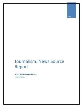 Journalism News Source Report