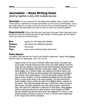 Journalism — News Writing Bundle