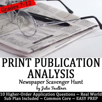 Journalism Newspaper Analysis, Use Real-World Print to Ins