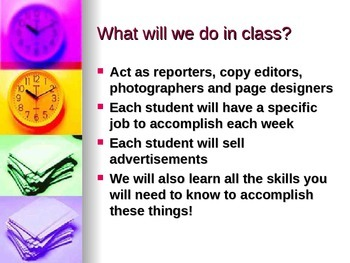 Journalism/ Newspaper Introductory Powerpoint