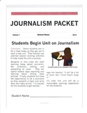 Journalism / Newspaper Packet (Writing to Inform, Nonfiction)