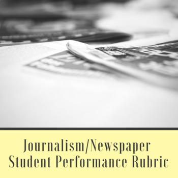 Journalism/Newspaper Student Performance Rubric