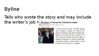 Journalism / Newspaper Writing Vocabulary