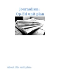 Journalism Op-ed (opinion) unit handouts