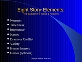 Journalism: Eight Elements of Good Stories for Newspaper a