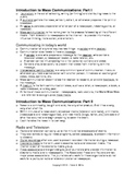 Journalism: Intro to Comm. Notes, Activities, & Quiz for Newspaper and Yearbook
