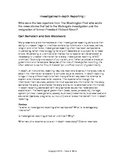 Journalism: Investigative Reporting Notes for Newspaper and Yearbook