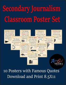 Journalism Poster Set