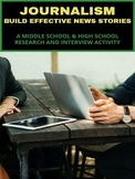 Journalism - Research and Interviewing Activity - Distance