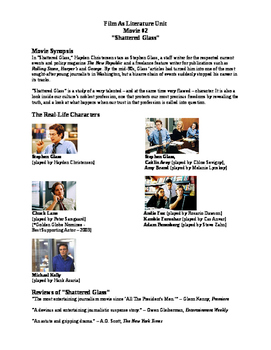 """Journalism - """"Shattered Glass"""" Preview Activity"""