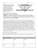 Journalism — Suspended Interest Lead Writing Activities (Examples and Rubric)