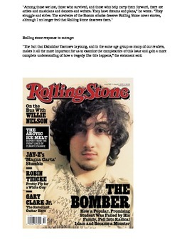 Journalism: The power of a photo (Boston Bomber on Rolling Stone Magazine)