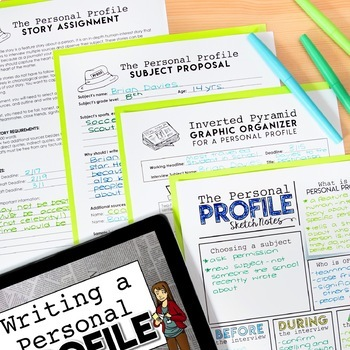 Journalism Personal Profile Lesson and Story Assignment
