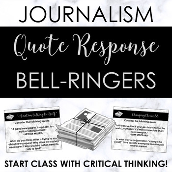 Journalism or Newspaper Quote Bell-Ringers -- Great to act