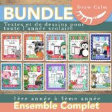 French Immersion Writing Activities Kindergarten / Grades 1 Bundle