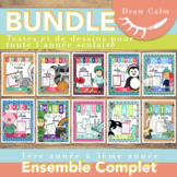 French Immersion Writing Grades 1-3 Whole Year Bundle Dist