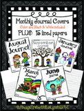 Journals: Monthly Covers & Lined Paper Portrait {Writing J