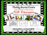 Journals: Monthly Covers & Lined Paper LANDSCAPE {Writing Journals} Color/B&W