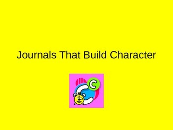 Journals That Build Character