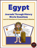 Journals Through History: Egypt (Movie Questions for 2 Videos)