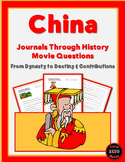 Journals Through History: China (Movie Questions for 2 Videos)