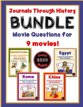 Journals Through History Movie ?s Bundle: Mesopotamia, Egypt, China & Rome