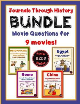 Journals Through History Movie ?s Bundle: Mesopotamia, Egypt, China & Rome