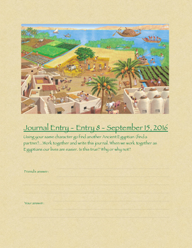 Journals for Egypt Unit