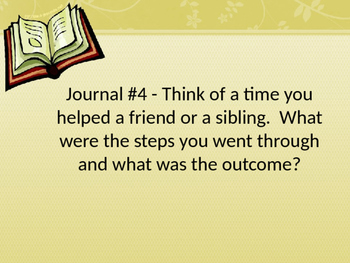 Journals for Writing Prompts - English and Language Arts