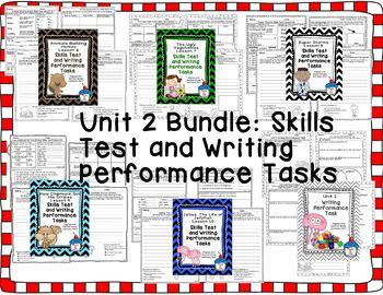 Journeys 2nd Grade- Unit 2 Bundle Skills Tests and Writing Tasks