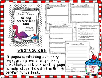 Journey 2nd Grade Unit 6 Writing Performance Task