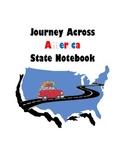Journey Across America 50 States Notebook