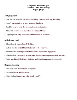 Journey Across Time Chap 2 Section 1 Ancient Egypt