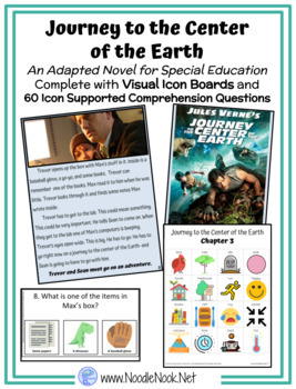 Journey Center Earth- An Adapted Novel with Visual Supports for ...