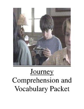 Journey Comprehension and Vocabulary Packet