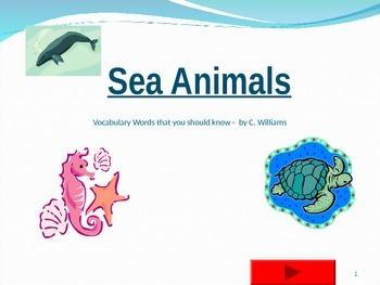 Journey's -First Grade-Lesson11-Sea Animals - flashcard po