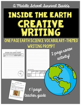 Journey Inside the Earth Writing