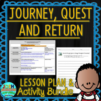 Journey, Quest, and Return by Aaron Becker 3 Week Lesson Plan/Activity Bundle