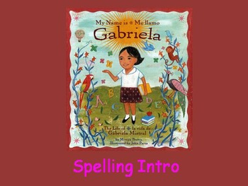 "Journeys 2nd Lesson 18 Spelling Intro PPT for ""My Name is Gabriela"""