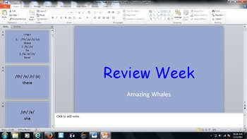 Journey Unit 4 Review and Amazing Whales