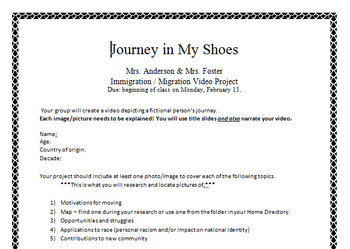 Journey in My Shoes- Project Introduction