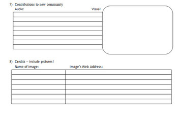 Journey in My Shoes- Video Storyboard Worksheet