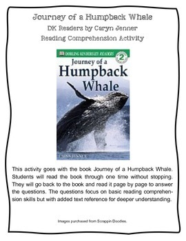 Journey of a Humpback Whale DK Readers Level 2 Reading Comprehension Actiivity