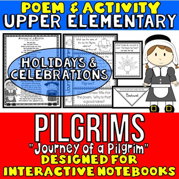 Pilgrims Activity: Pilgrims Poem and Questions: Interactive Notebook