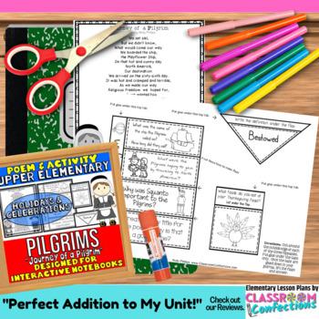 Pilgrims Activity: Pilgrims Poem and Questions: Interactiv