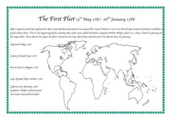 Journey of the First Fleet to Australia