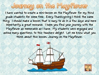 Journey on the Mayflower...An Upper Elementary Voyage