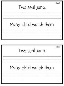 Journey's 1st Grade Daily Proofreading Practice Mini-Books, Unit 3
