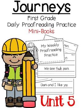 Journey's 1st Grade Daily Proofreading Practice Mini-Books, Unit 5